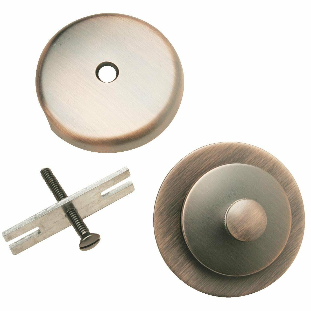Do it Venetian Bronze Overflow and Roller Ball Drain Trim Kit #438832