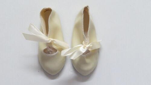 Chaussures  Long 100  Large 40   Simili cuir  Beige       pour poupées anciennes