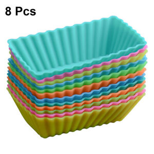 Baking-Molds-Reusable-Square-Silicone-Cupcake-Molds-Moulds-for-Home