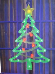 Details About Sylvania Battery Operated Led Christmas Tree W Timer Christmas Window Decoration