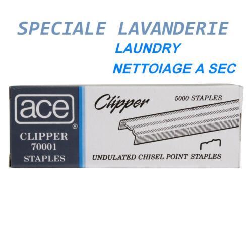 INOX GRAFFETTE PUNTI ACE CLIPPER STAPLES ORIGINAL 70001 UNDULATED BOX  5000 Pcs