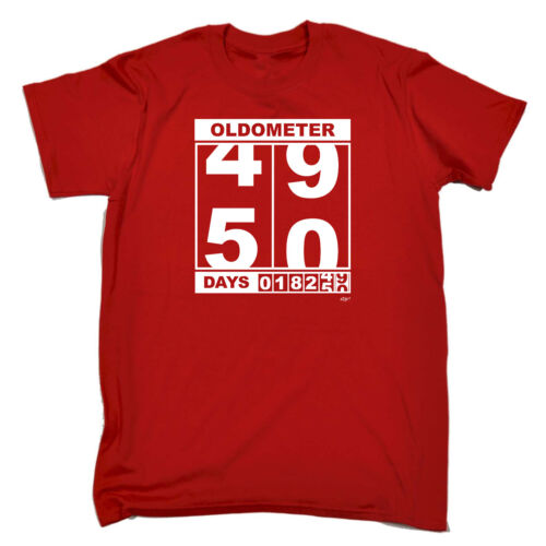 Oldometer 4950 Days Funny Novelty T-Shirt Mens tee TShirt