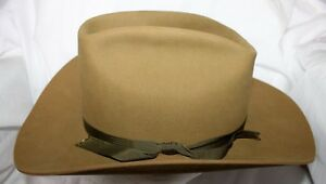 Details about VINTAGE RESISTOL SELF CONFORMING GREEN BROWN WESTERN COWBOY OPEN  ROAD HAT 7 1 4 2e97dd2a297