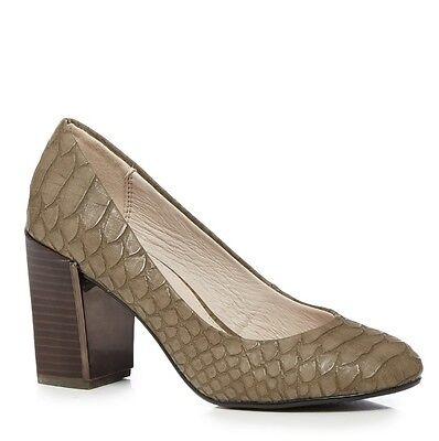 RJR. John Rocha gris con textura de cocodrilo Tribunal Zapatos Rrp £ 45 Reino Unido 8 EU 41 LN077 CC 03
