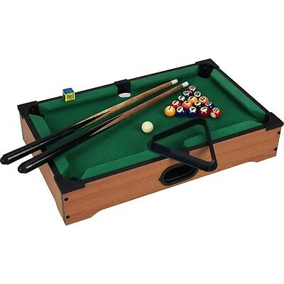 """Aww-Cool Toys 20"""" Pool Billiards Wooden Tabletop Classic Portable Game"""