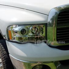 For 2002-2005 Dodge Ram 1500 2500 3500 Dual Halo Projector LED Headlights Chrome