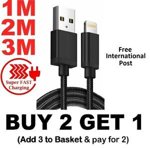 Long-Braided-USB-Quick-Charger-Data-Charging-Cable-Lead-For-iPhone-5-6-7-8-X-XR