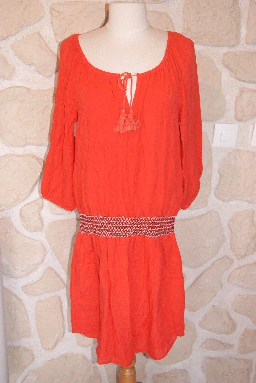 Robe Orange neuve marque Diplodocus Größe 36  étiqueté à