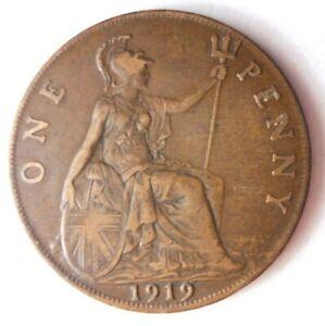 1919-Gran-Bretana-Penny-Gran-Moneda-Ganga-Bin-301