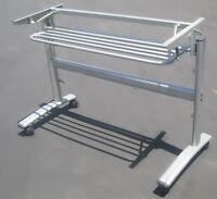 Mobile Folding Table Rack W/shelf For Commercial/home/hotel/school Training Desk