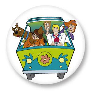 Magnet Aimant Frigo Ø38mm Scooby Doo Scoubidou TV Dessin Animé Animation