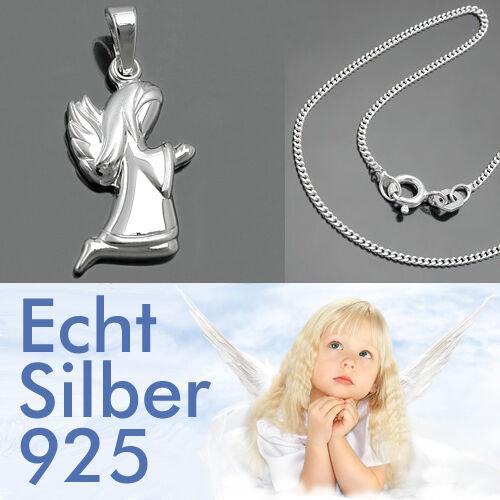 Taufkette betender Schutz Engel Anhänger mit Kette wählbar Echt Silber 925 Neu