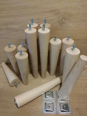 chaises Tabourets 4 X meubles en bois pieds//jambes pour canapé tour de poitrine-M8 long XXL