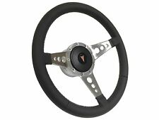 1969-1989 Pontiac 9 Bolt/Tri Spoke Leather Steering Wheel Kit, Hub & Horn Button