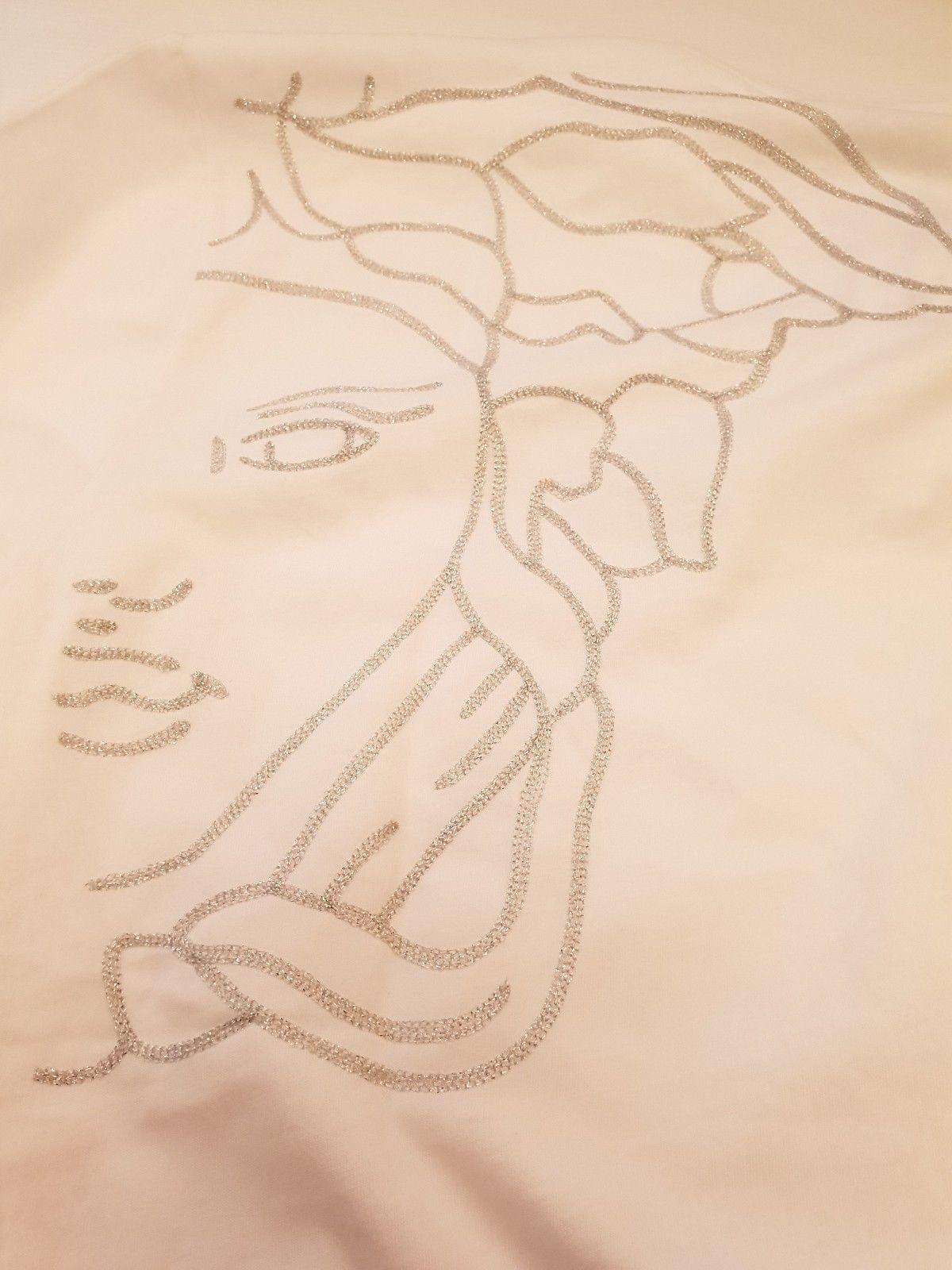 VERSACE COLLECTION HALF MEDUSA t-shirt Größe XXXL in Weiß  V800683 VJ00413