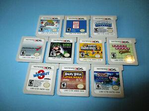 Lot-of-10-Nintendo-3DS-Games-New-Super-Mario-Bros-2-Kart-7-Luigi-039-s-Mansion