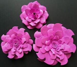 Paper Flowers 3D DIY Wedding Party Shower Decor Craft Nursery Wall Frame Sign