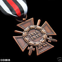 The Honour Cross of the World War 1914 - 1918 WW1 German Hindenburg Cross Repro