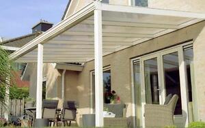 Terrassendach Aluminium Terrassenuberdachung Alu Bausatz Weiss Ebay