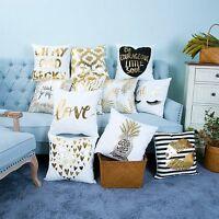 "18"" Pillow Case Sofa Home Decor Waist Cotton Cushion Cover"
