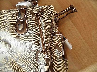 BAG STREET schöne Henkeltasche Textil beige gold NEU HMI316