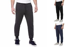 Puma-Men-039-s-French-Terry-Sweatpants-Black-Dark-Gray-Heather-and-Blue-Heather