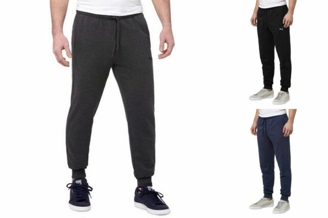 10e26d92c82991 Mens PUMA French Terry Athletic Jogger Pants Sweatpants L Dark Gray Heather