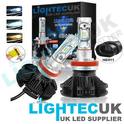 JAMIEWIN 12000LM H1 Led Headlight Bulbs Kits 6000K Canbus ZES Chip Led Fog Light Replacement 2 Years Warranty