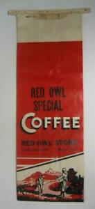 Vintage-Red-Owl-Store-Coffee-Bag-Beaver-WI-Frank-Blachowiak