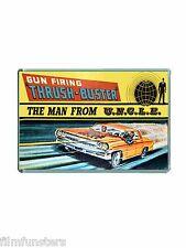 TV21 COMIC: CORGI MAN FROM UNCLE ' THRUSH BUSTER' CAR ADVERT JUMBO FRIDGE MAGNET