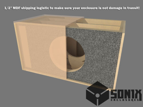 DUAL SEALED SUBWOOFER MDF ENCLOSURE FOR ALPINE SWR-12 SUB BOX STAGE 3