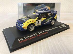 Seat-Cordoba-WRC-EVO-3-1-43-Rallye-Geschenk-Modellauto-Modelcar-Scale-Spielzeug