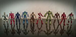 Marvel-Iron-Man-x10-Action-Figure-Bundle-Set-Hasbro-2010-Whiplash-Various-Armour