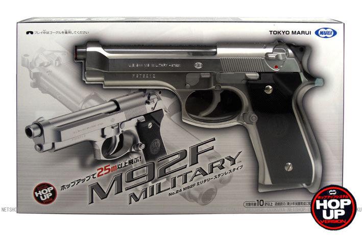 Tokio marui no.24 m92f militärische edelstahl hg luft - pistole f   s t   h