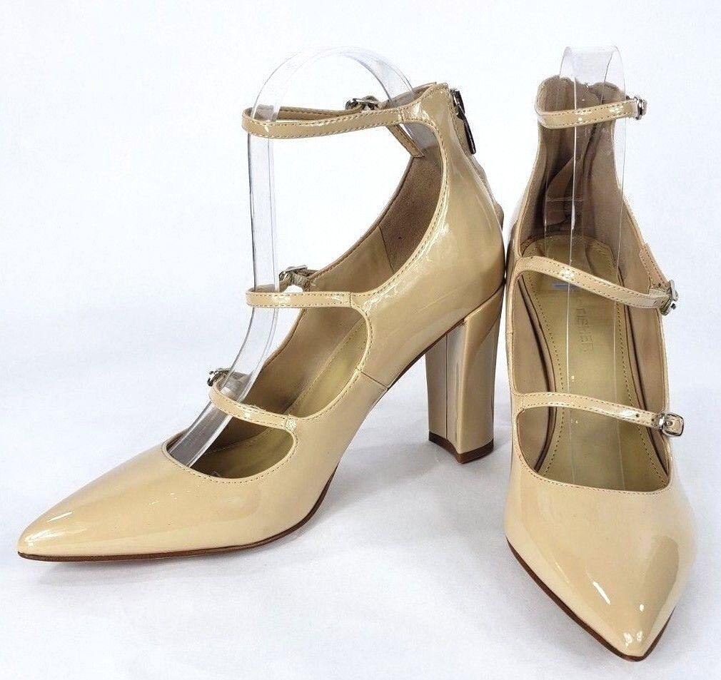 negozio outlet Marc Marc Marc Fisher donna Dimensione 8 Triple Strap Nude Pointed Toe Block Heel scarpe New  servizio premuroso