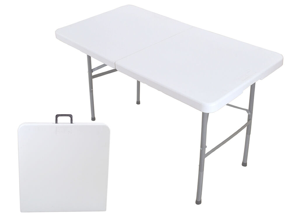 folding table 4 39 portable plastic indoor office party dining outdoor camp picnic ebay. Black Bedroom Furniture Sets. Home Design Ideas