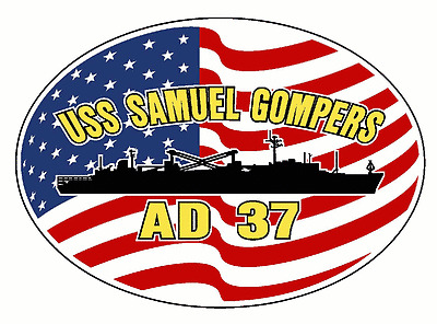 USS DETROIT AOE 4 Oval Decal Sticker Military USN U S Navy