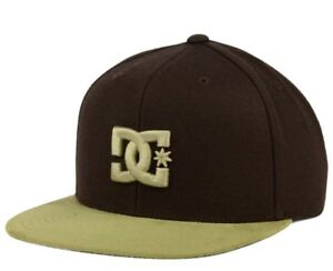 new arrival 649fa 4240d Image is loading New-DC-Shoes-Snappy-TX-Brown-Hat-Cap-