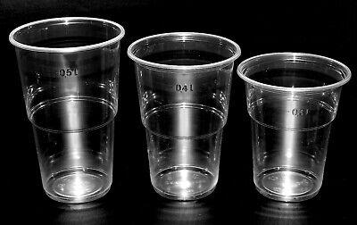 100-2400 Glasklare Ausschankbecher Bierbecher Trinkbecher 0,3l-0,4l-0,5l-Ø95mm