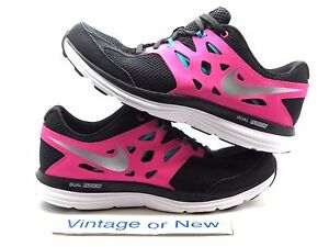 Girls Nike Dual Fusion Lite Black Pink Teal Running Shoes 599295-001 ... d7c66ce6e
