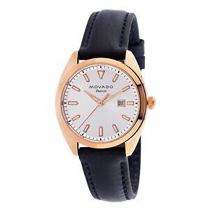 Movado 3650037 Women's Heritage-Datron Rose Gold Quartz Watch