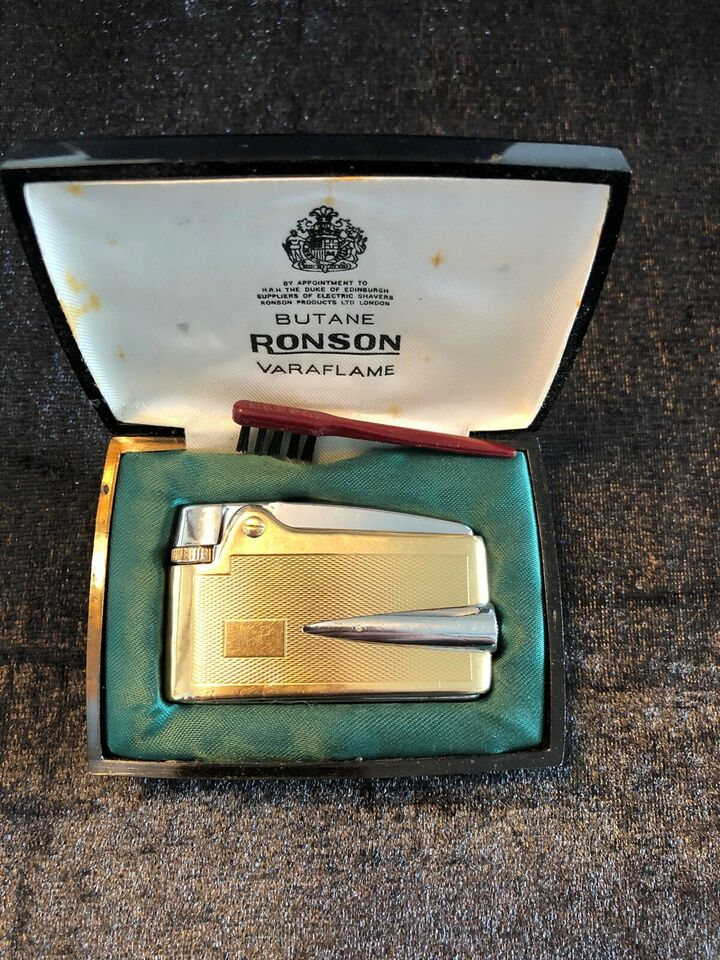 Lighter, guld ronson