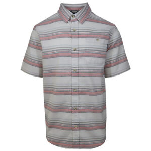 O-039-neill-Men-039-s-Coral-Striped-S-S-Woven-Shirt-Retail-55