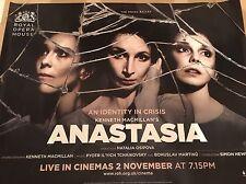 ROH Anastasia Live Original Uk Cinema Quad Poster