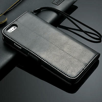 Genuine Real Leather Flip Wallet Case Cover For Apple iPhone 6 / iPhone 6 Plus
