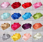 Women Fashion Soft Silk Square Scarf Small Plain Neckerchief Head Neck Headband