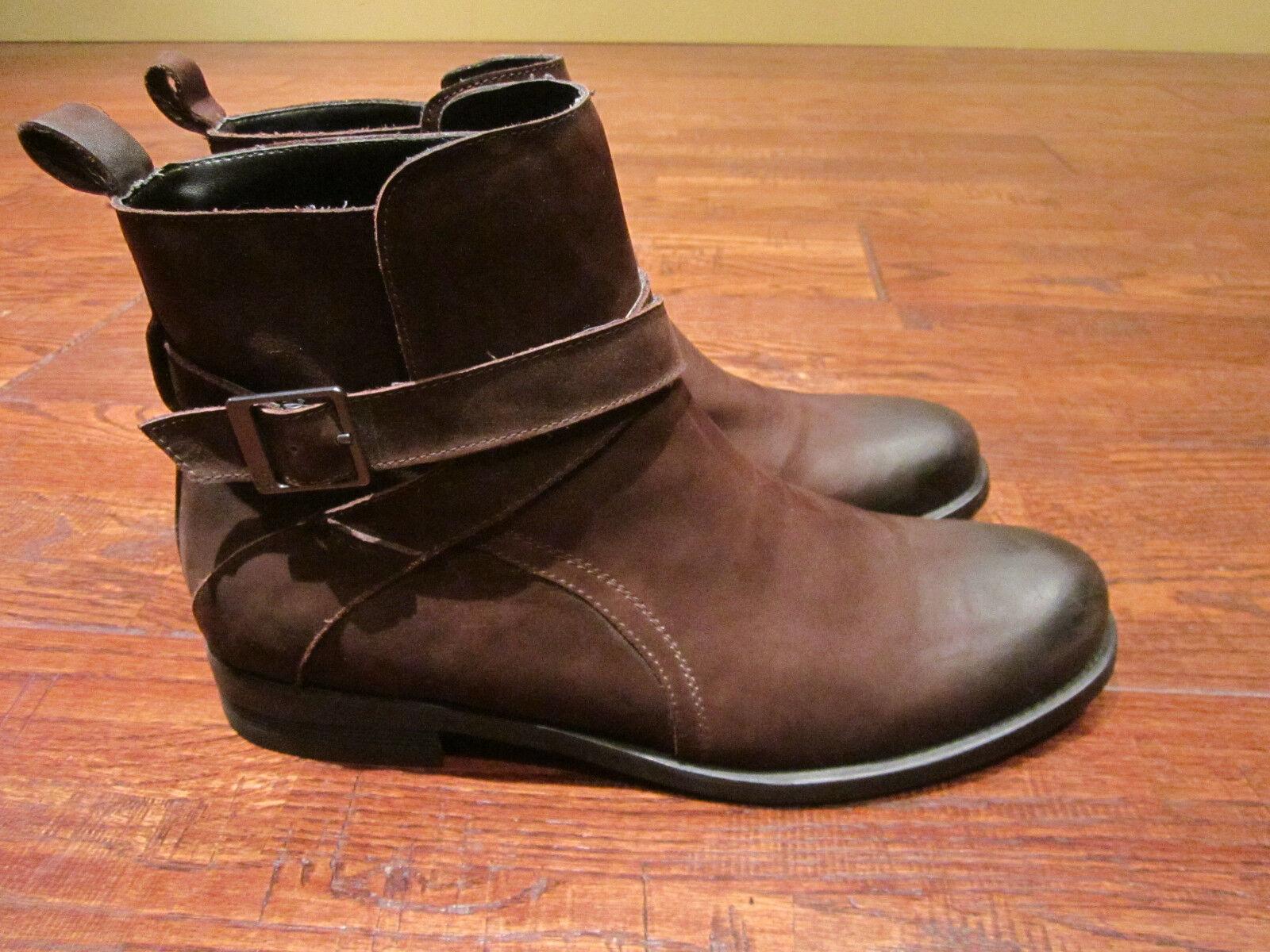 Para Hombres Zapatos Kenneth Cole Reaction Hit Hombres botas de cuero envejecido marrón