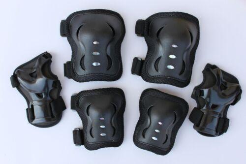 Roller Blading Wrist Elbow Knee Pads Blades Guard 6 PCS Set L Size 3 colors