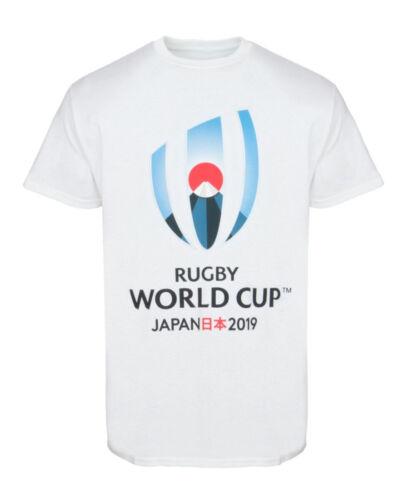 Coupe du monde de rugby 2019 pour homme grand logo T-Shirtblanc