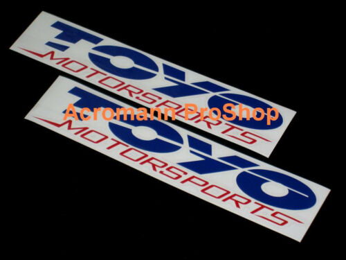 "2x 6/"" 15.2cm Toyo Motorsports Tires decal sticker perform proxes driven d1 drift"